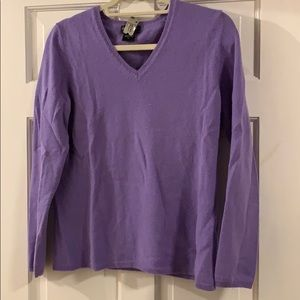 Lord & Taylor Lavender Cashmere Sweater